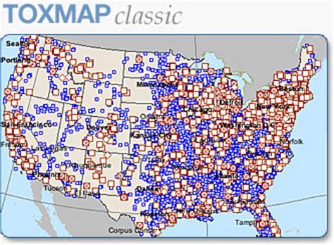 map of hazardous waste sites tri and superfund environmental maps toxmap