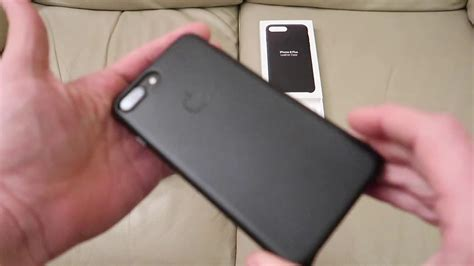 apple iphone    leather case  size black unboxing youtube