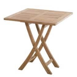 table de jardin en teck carr 233 e pliante 70cm sumbara