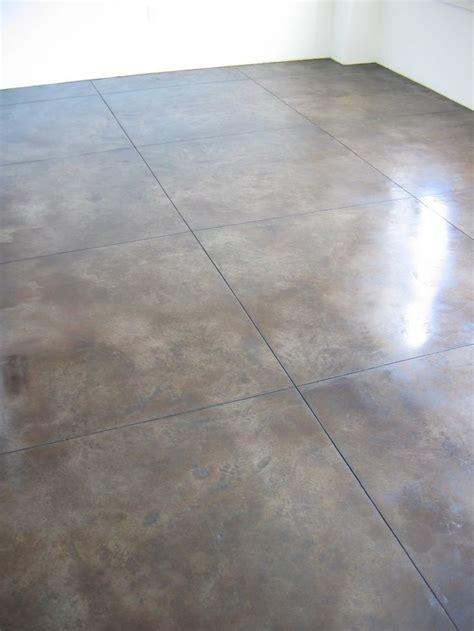 polished concrete floor for basement decorating