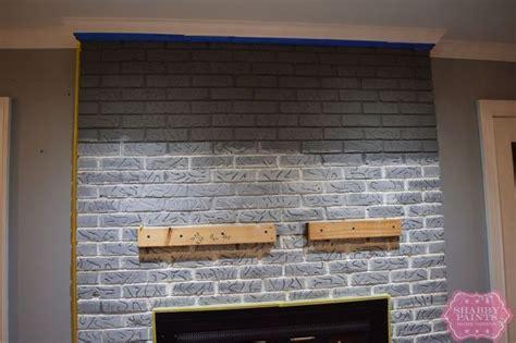 chalk paint on brick painted brick fireplace farmhouse inspiration hometalk