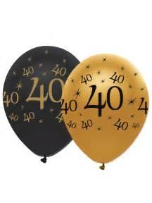 6 ballons noir et or 40 ans d 233 coration anniversaire et