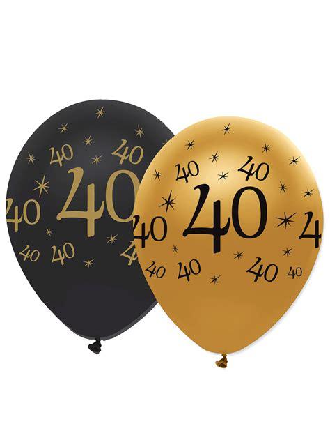 Happy New Year Cake Decoration by 6 Ballons Noir Et Or 40 Ans D 233 Coration Anniversaire Et