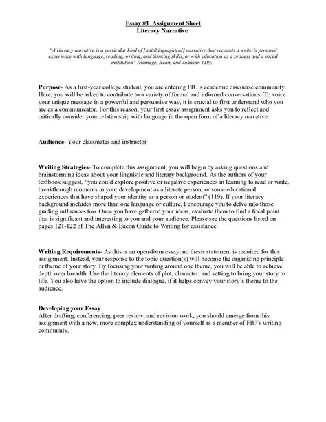 sle personal narrative essay sle of essay 28 images sle of personal narrative essay
