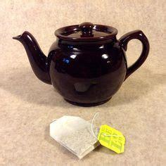 See Tea Pot Light Brown vintage large sadler striped brown betty teapot