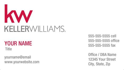 kw business card template keller williams business cards keller williams realty