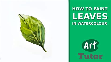 how to paint how to paint leaves in watercolour youtube