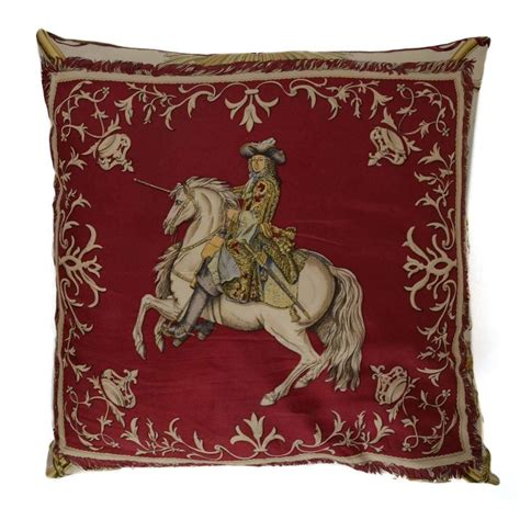 Hermes Pillows For Sale by Hermes Vintage Burgundy And Silk Pillow For Sale At