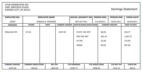 free paycheck stub templates 5 free pay stub generator timeline template
