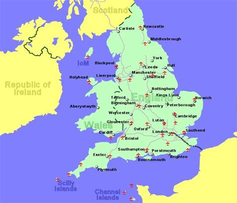 map uk international airports airports in uk and ireland with flights to the rest of europe