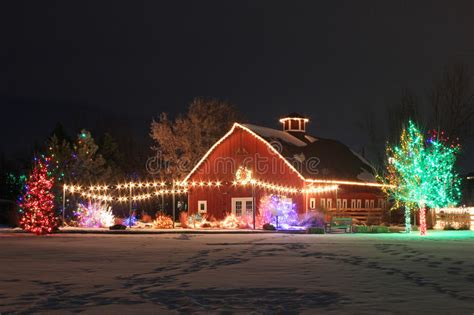 chatfield botanic gardens christmas lights on the farm stock image image of season botanic 31698317