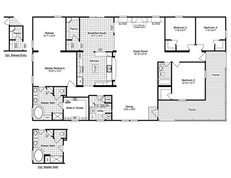 floor plans with porches ranch house floor plans with wrap around porch