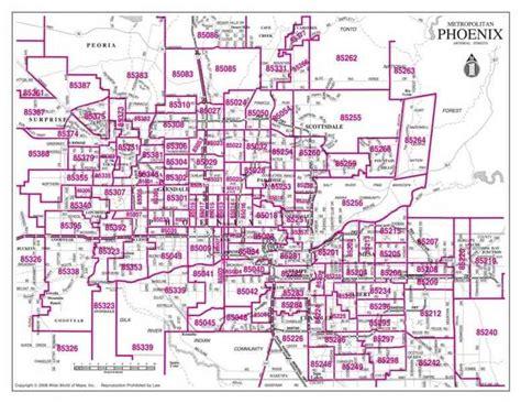 zip code map chandler az zip code map arizona zip code map