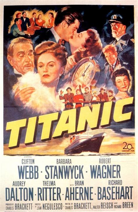 Titanic 1953 Film Dark Days Blog Tour Claudia Gray S Recommended Titanic Movies The Book Smugglers