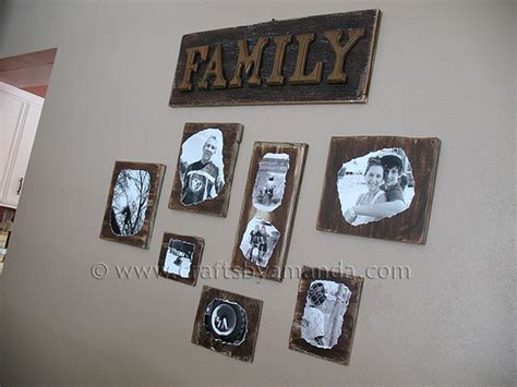 Can You Decoupage On Wood - decoupage family photo plaques crafts by amanda