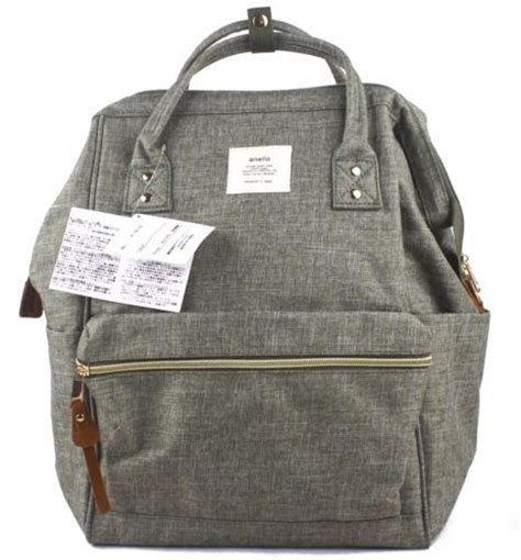 Pack Anello details about anello japan large backpack sweat denim selling rucksack canvas casual bag