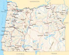 Oregon Rivers Map by Oregon River Map