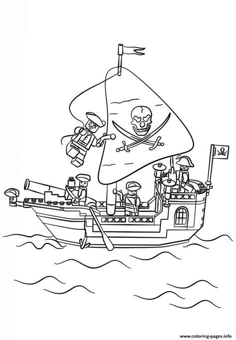 lego boat coloring pages lego pirate ship coloring pages printable