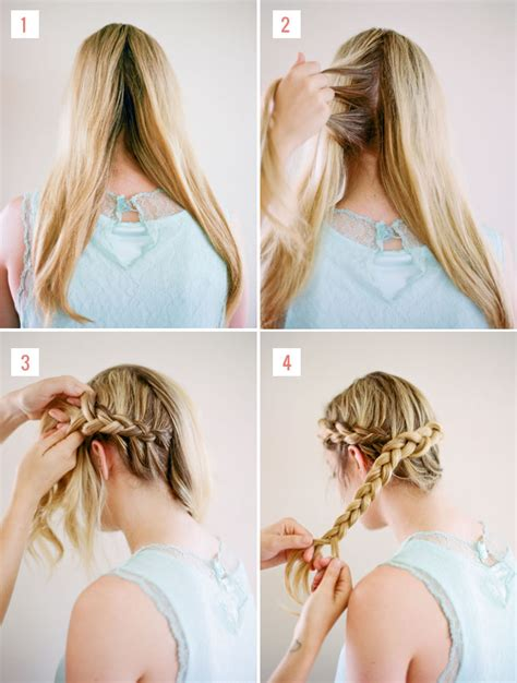 how to do a halo braid with weave hair tutorial loose halo braid