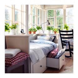Ikea Guest Bed With Storage Hemnes Day Bed Frame With 3 Drawers White 80x200 Cm Ikea