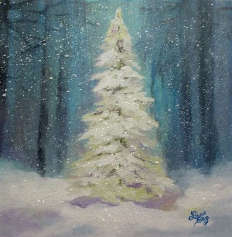 christmas tree painting original