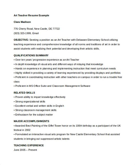 29 free teacher resume templates pdf word documents