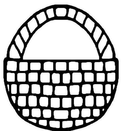 Basket Coloring Basket Coloring Page