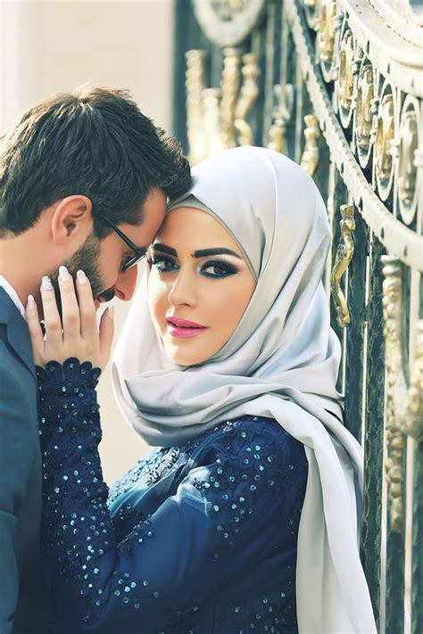 muslim couple wallpaper hd sexy blue long sleeve arab style evening dress sequined