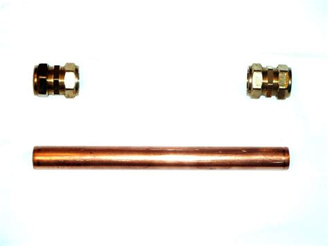 Plumbing Pipe L by 28mm Copper Plumbing Pipe Repair Kit With Compression