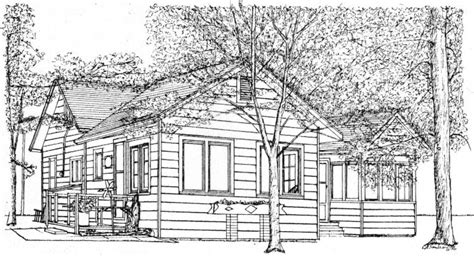 bungalow house sketch design michigan summer cottage home portraits house portraits commissioned home art house