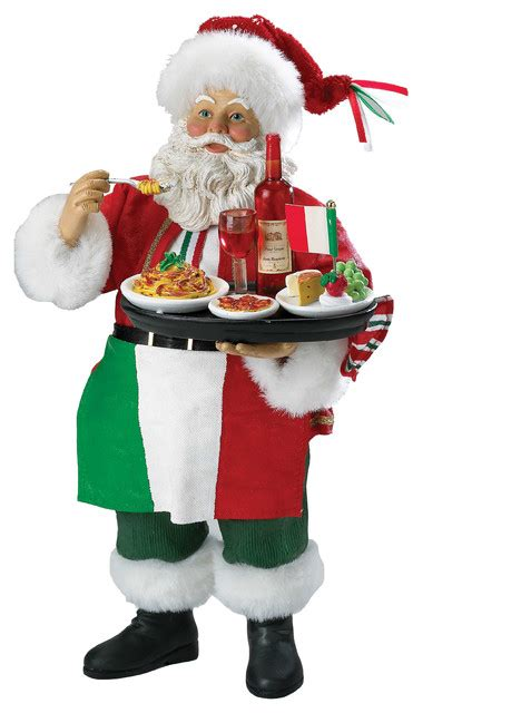 3 Piece Dining Room Set by Italian Santa Figurine Traditional Christmas