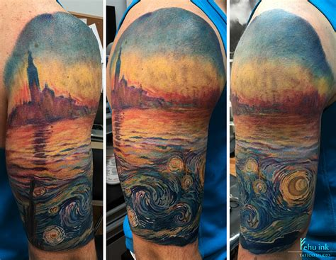 monet tattoo gogh meets monet by ellegottzi on deviantart