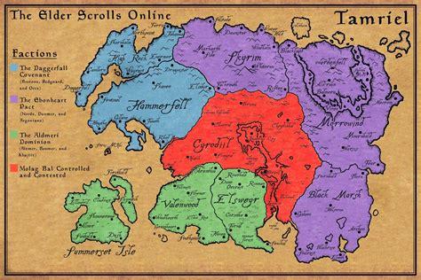 elder scrolls map the elder scrolls