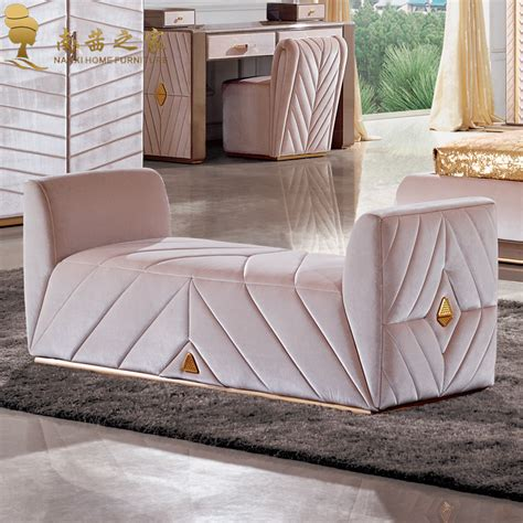 Modern Bedroom Furniture Bed End Chair Ottoman Fabric Sofa End Of Bed Sofa