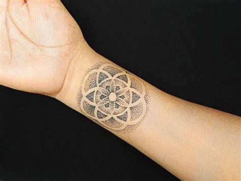 pointillism tattoo 17 best ideas about mandala wrist on