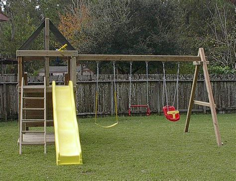 backyard swing set plans apollo redwood fort swingset and diy plans gallery