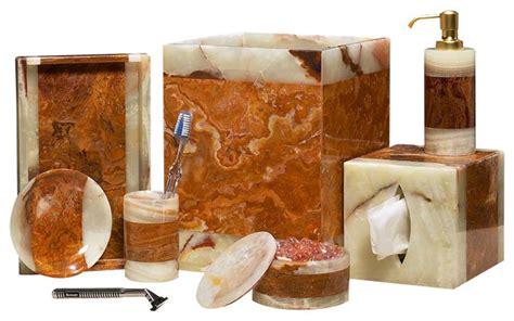 Southwestern Bathroom Accessories by 6 Leaf Marble Bath Set Southwestern