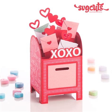 valentines card boxes free gift hearts aflame svg kit 6 99 value svgcuts