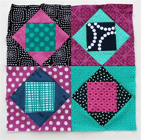 Square Quilt Block by Square In Square Wip Wednesday Wombat Quilts