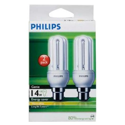 Lu Philips Warm White buy philips genie bayonet light bulb 14w warm white 2pk