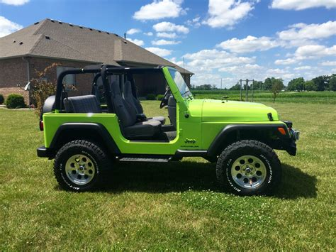 green jeep wrangler sub lime green tj jeep wrangler tj forum