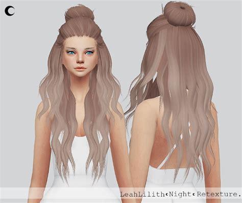 cc hair for sism4 night hair re texture at kalewa a 187 sims 4 updates