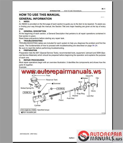 toyota sequoia 2001 2006 repair manuals auto repair manual forum heavy equipment forums