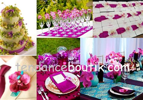 mariage theme orchidee centre de table decoration