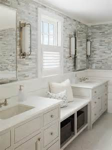 Bathroom Countertops With Sinks Built In Make Up Vanity Nook Between Washstands Transitional