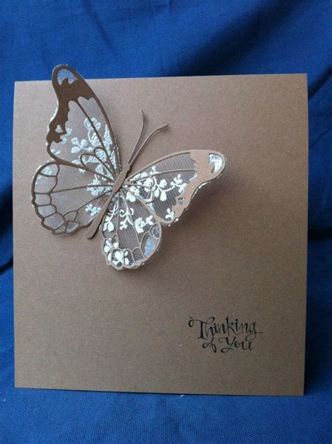 How To Make Handmade Butterfly - cotton lace butterfly cards handmade ivory chic wedding