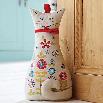 pattern cat doorstop cat door stop doors cat and craft