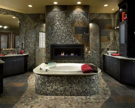river rock bathroom ideas how to use river rock tile in bathroom design 19 great ideas style motivation
