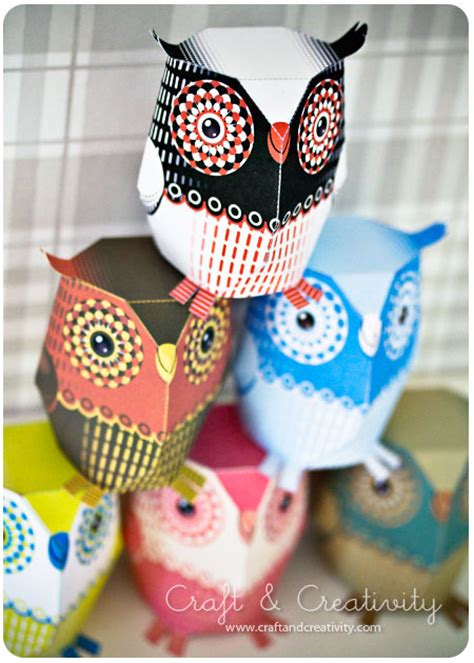 Paper Owls - dagens pyssel pappersuggla craft of the day paper owl