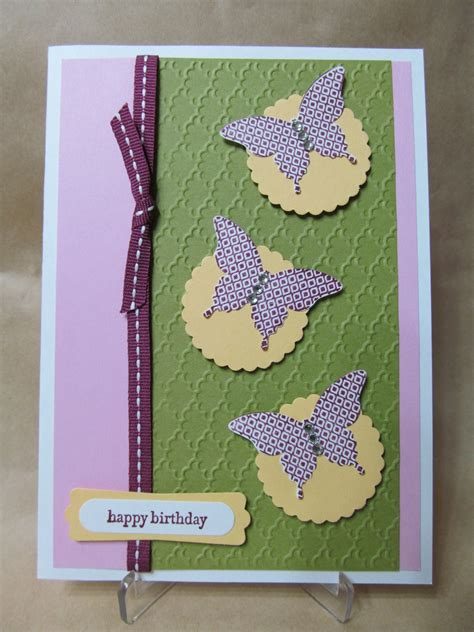 Handmade Birthday Cards - savvy handmade cards butterfly birthday card